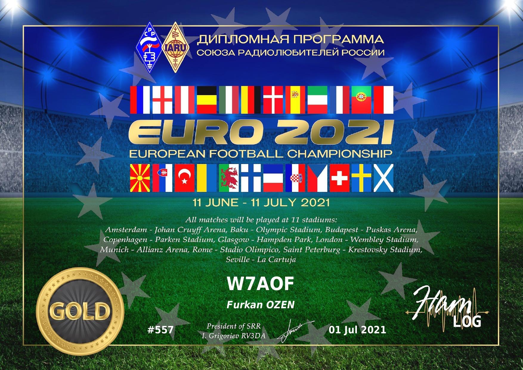 euro2021 award gold